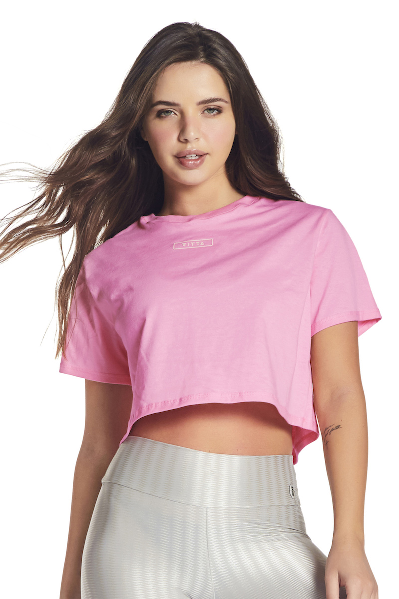Cropped Essential Fit Cor ROSA