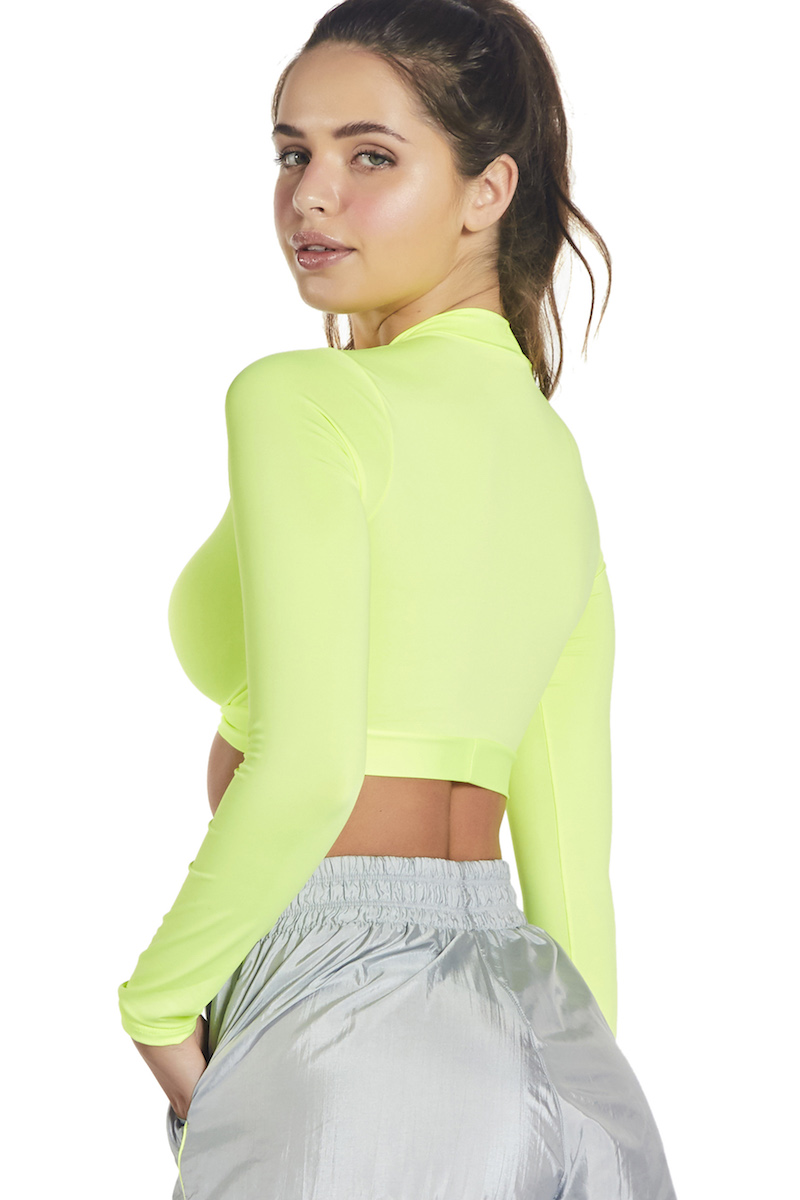 Cropped Hang Out Cor VERDE NEON
