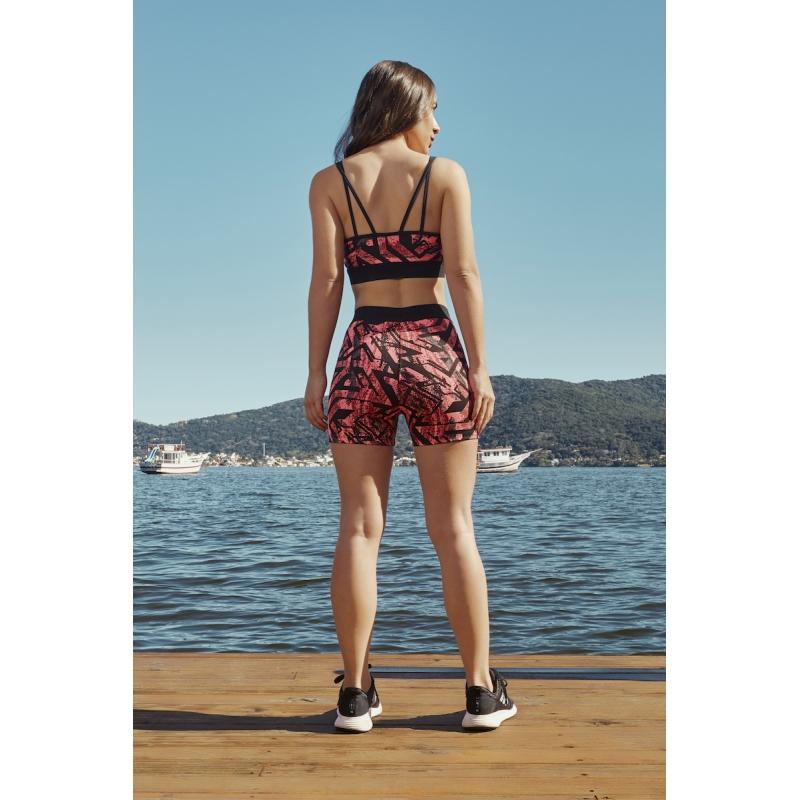 Shorts Matrix Unknown Cor Pink
