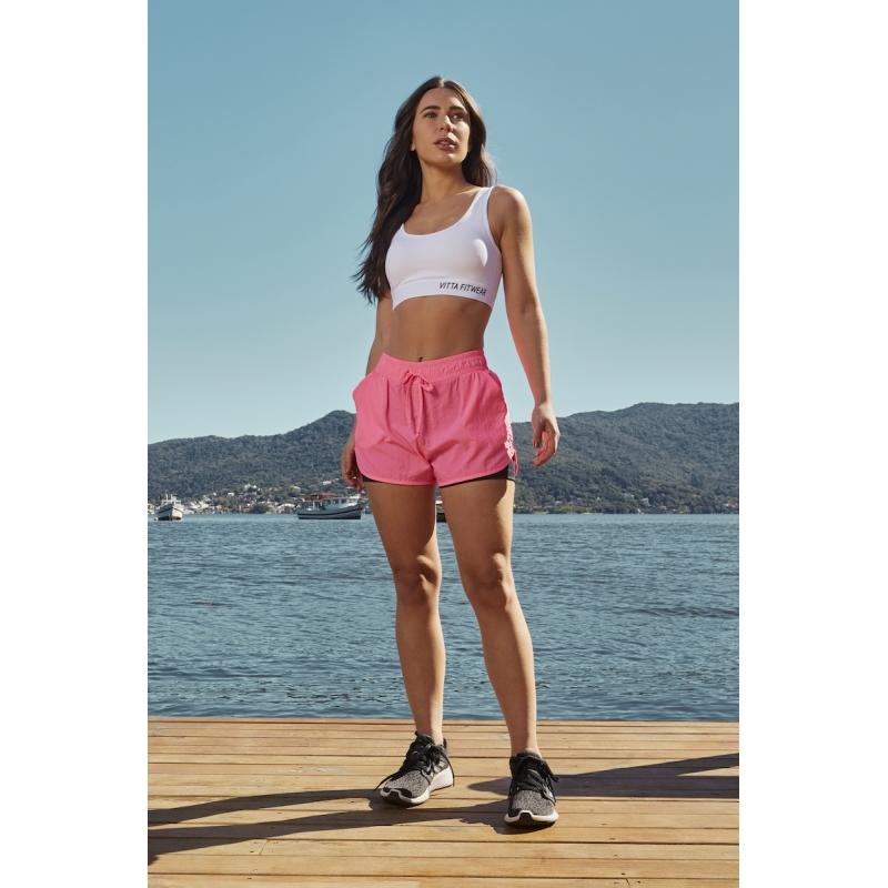 Shorts Run Surface Cor Pink