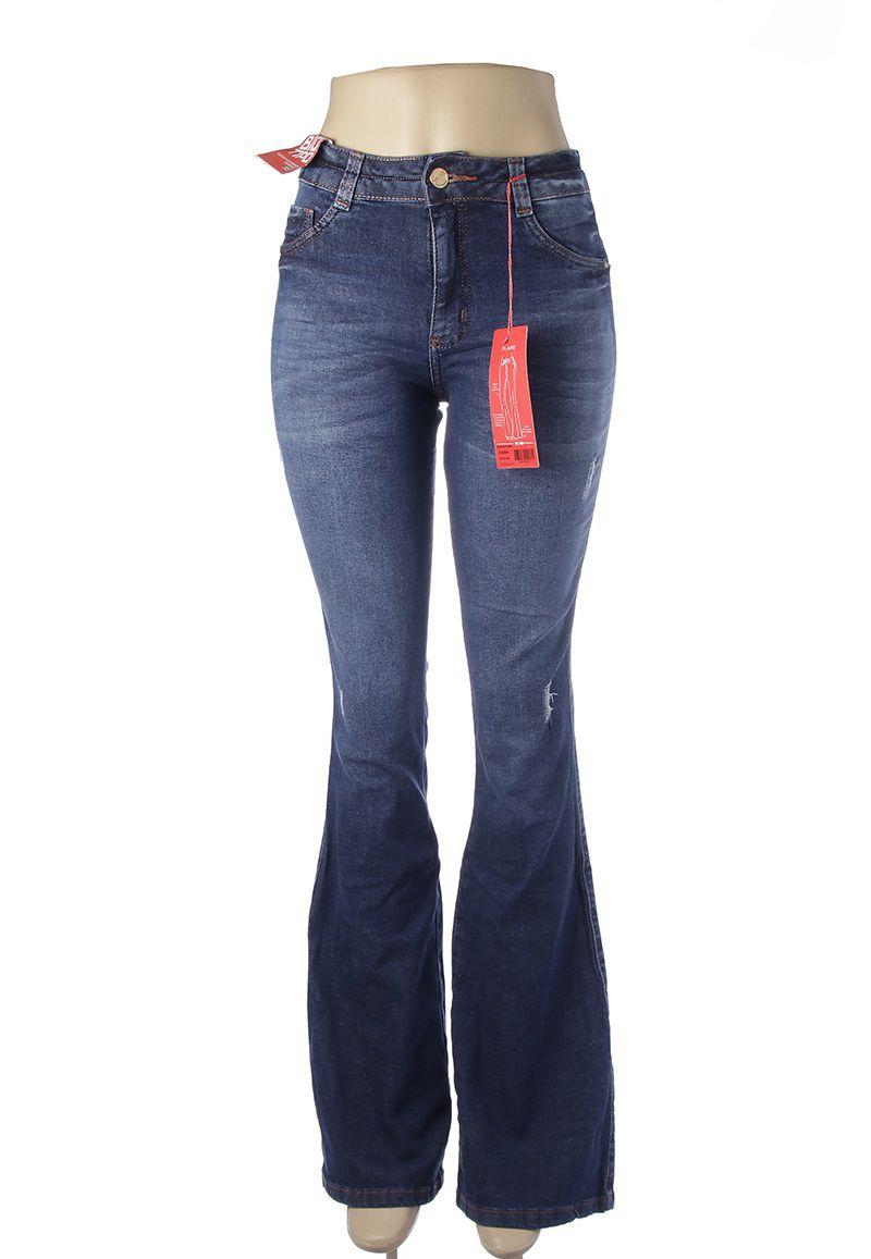 dd746f6da Calça Flare Jeans Feminina Azul Cintura Media Biotipo - Shop Original ...