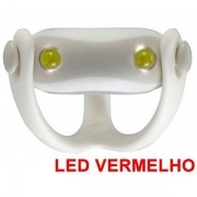 Farol Vista Light Infini I-203R Led Vermelho WUKONG Branco