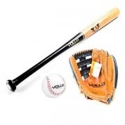 Kit Taco + Luva + Bola de Baseball VOLLO Profissional