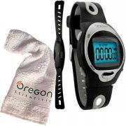 Monitor Cardíaco OREGON HR102N + Clip p/ Bike + Toalha