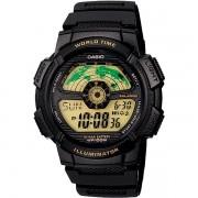 Relógio Casio AE-1100W-1BVDF Bateria 10 Anos Hora Mundi