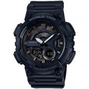 Relógio Casio AEQ-110W-1BVDF Cronômetro Alarme Hora Mundi