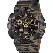 Relógio Casio G-Shock Camuflado GA-100CM-5ADR Resistente a choques