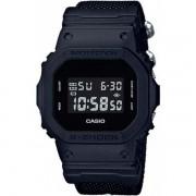 Relógio Casio G-Shock DW-5600BBN-1DR Resistente a choques Pulseira Cordura