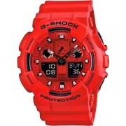 Relógio Casio G-Shock GA-100C-4ADR Resistente a choques