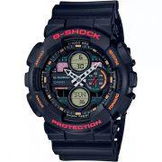Relógio Casio G-Shock GA-140-1A4DR Resistente a choques