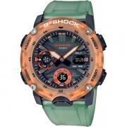Relógio Casio G-Shock GA-2000HC-3ADR Série Hidden Coast Carbon Core Guard