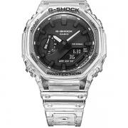 Relógio Casio G-Shock GA-2100SKE-7ADR Série Transparent Pack Carbon Core Guard
