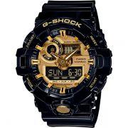 Relógio Casio G-Shock GA-710GB-1ADR Resistente a choques