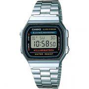 Relógio Casio Retrô Digital Vintage A168WA-1WDF Alarme Cronômetro