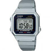 Relógio Casio Retrô Digital Vintage B650WD-1ADF Alarme Cronômetro
