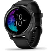 Relógio GPS c/ Monitor Cardíaco no Pulso Garmin VENU Preto AMOLED