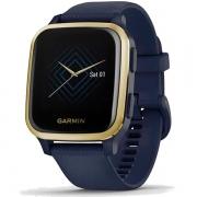 Relógio GPS c/ Monitor Cardíaco Pulso Garmin VENU SQ Music Azul