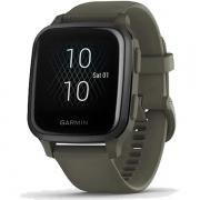 Relógio GPS c/ Monitor Cardíaco Pulso Garmin VENU SQ Music Verde