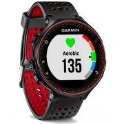 Relógio GPS Frequencímetro de Pulso Garmin Forerunner 235 Preto/Vermelho