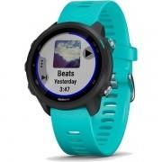 Relógio GPS Frequencímetro de Pulso Garmin Forerunner 245 Music Preto/Aqua