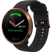 Relógio GPS Multiesportes Monitor Cardíaco de Pulso Polar Ignite Preto e Cobre