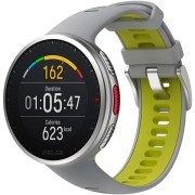Relógio GPS Multiesportes Monitor Cardíaco de Pulso Polar Vantage V2 Cinza e Verde-limão