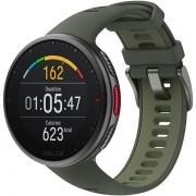 Relógio GPS Multiesportes Monitor Cardíaco de Pulso Polar Vantage V2 Preto e Verde