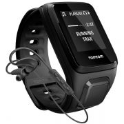 Relógio GPS Tomtom SPARK MUSIC Black 3Gb + Fone Bluetooth