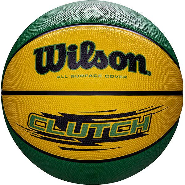 Bola de Basquete Wilson CLUTCH® Amarelo/Verde  - Loja Prime