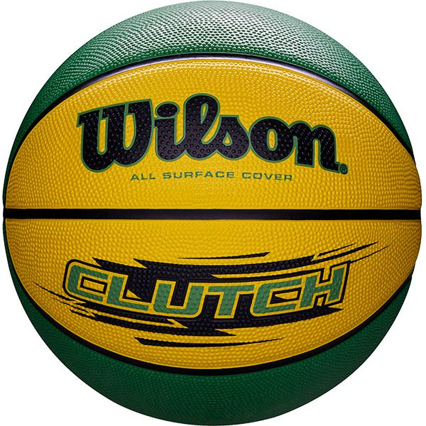 Bola de Basquete Wilson CLUTCH® Amarelo/Verde  - TREINIT