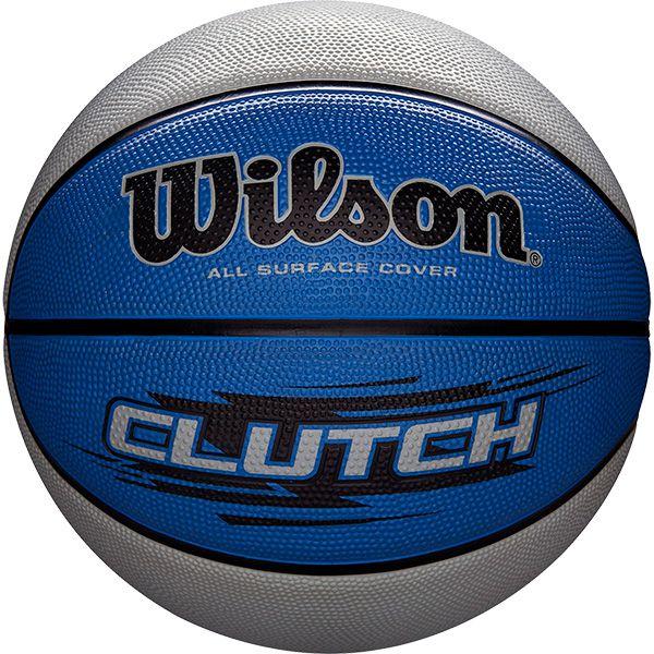 Bola de Basquete Wilson CLUTCH® Azul/Cinza  - Loja Prime