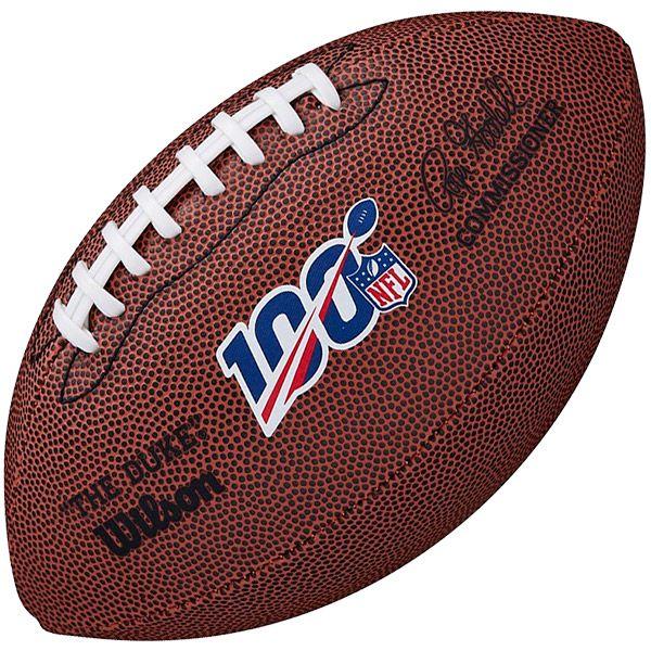 """Bola de Futebol Americano WILSON NFL 100 """"The Duke"""" Replica Ball Mini  - Treinit"""