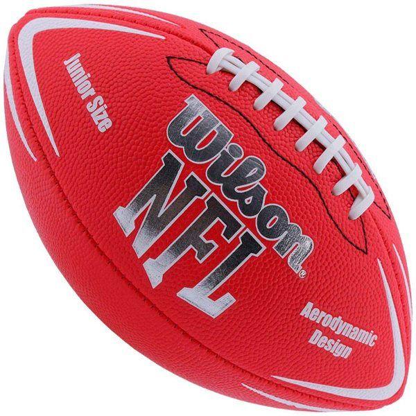 Bola de Futebol Americano WILSON NFL Team AVENGER Vermelha Jr  - Loja Prime