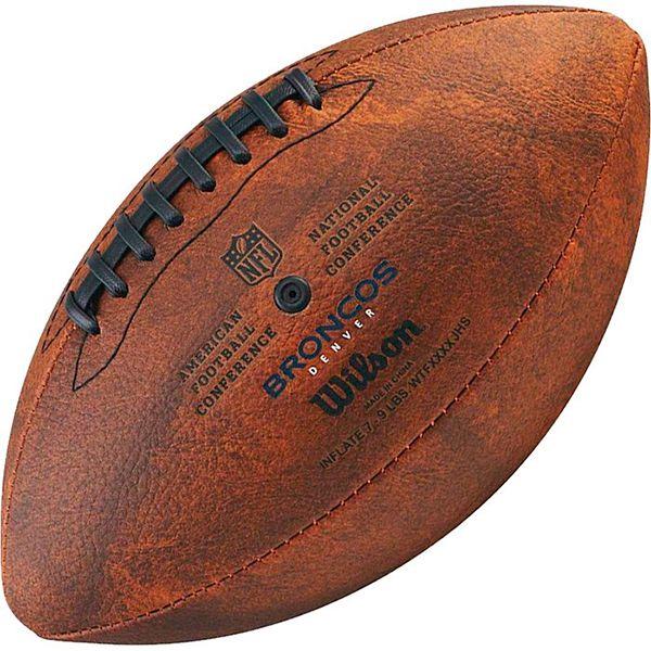 Bola de Futebol Americano Wilson THROWBACK NFL Jr. DENVER BRONCOS  - Loja Prime