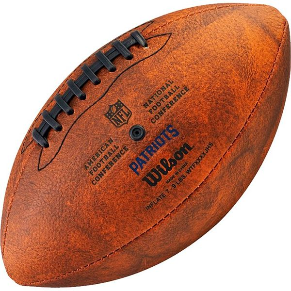 Bola de Futebol Americano Wilson THROWBACK NFL Jr. NEW ENGLAND PATRIOTS  - TREINIT