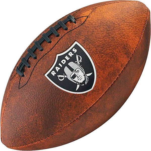Bola de Futebol Americano Wilson THROWBACK NFL Jr. OAKLAND RAIDERS  - Treinit