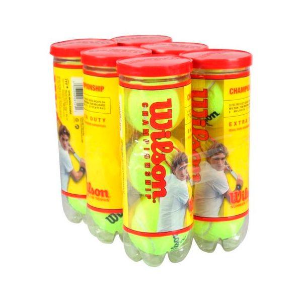 Bola de Tênis Wilson Championship - Mini Pack com 6 Tubos  - Loja Prime