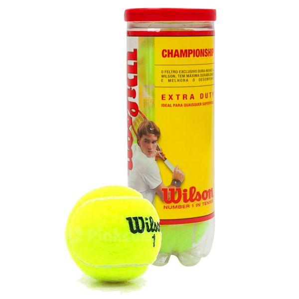 43db84076 Bola de Tênis Wilson Championship - Tubo com 3 Bolas - Loja Prime