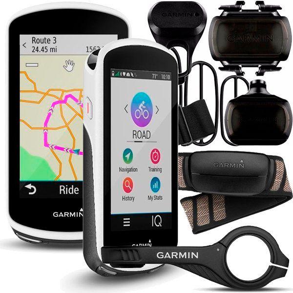 Ciclocomputador c/ GPS Garmin Edge 1030 Bundle Cinta Cardíaca + Sensores  - TREINIT