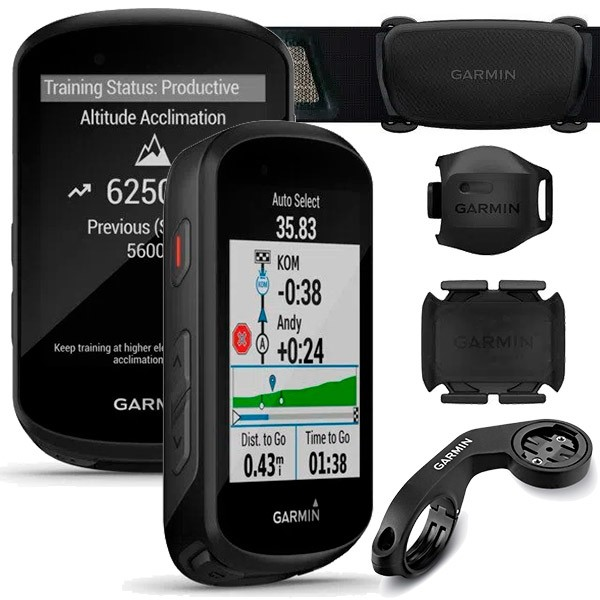 Ciclocomputador c/ GPS Garmin Edge 530 Bundle Cinta Cardíaca + Sensores  - TREINIT