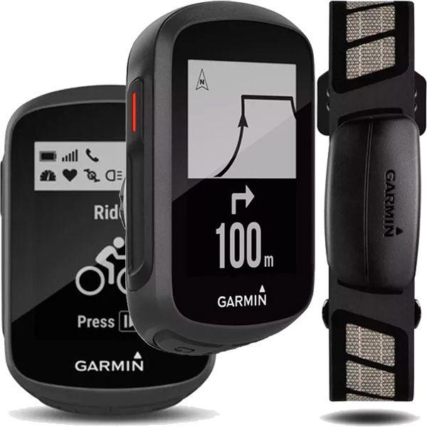 Ciclocomputador GPS Garmin Edge 130 HR Bundle Cinta Cardíaca  - Treinit