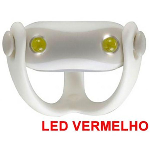 Farol Vista Light Infini I-203R Led Vermelho WUKONG Branco  - Loja Prime