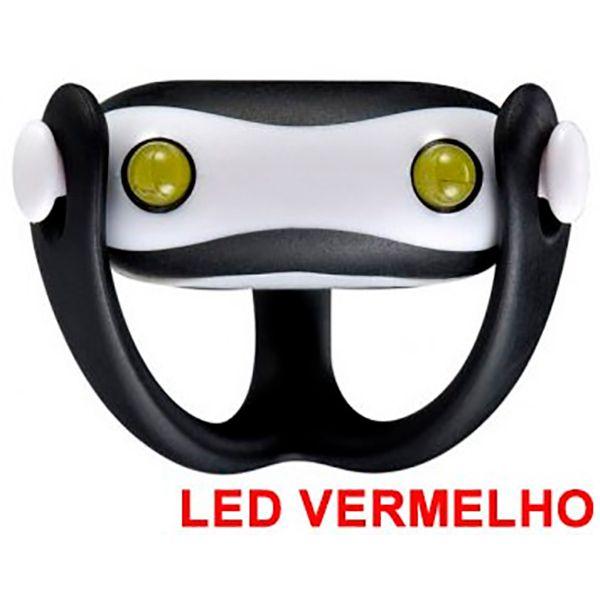 Farol Vista Light Infini I-203R Led Vermelho WUKONG Preto  - TREINIT