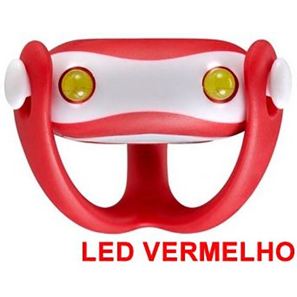 Farol Vista Light Infini I-203R Led Vermelho WUKONG Vermelho  - TREINIT