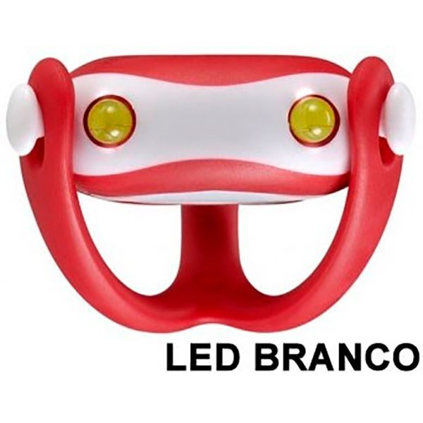 Farol Vista Light Infini I-203W Led Branco WUKONG Vermelho  - Loja Prime