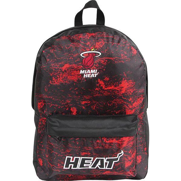 Mochila NBA Miami Heat Preta/Vermelha Dermiwil 30339  - Loja Prime