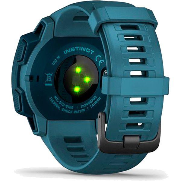 Monitor Cardíaco de Pulso com GPS Garmin Instinct Azul  - Treinit