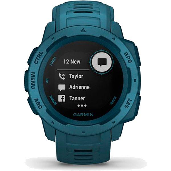 Monitor Cardíaco de Pulso com GPS Garmin Instinct Azul  - Loja Prime