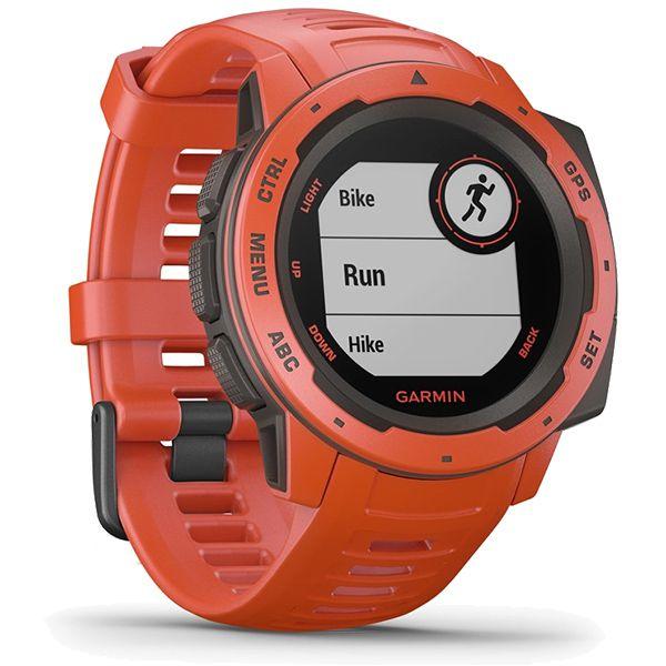 Monitor Cardíaco de Pulso com GPS Garmin Instinct Vermelho  - Treinit