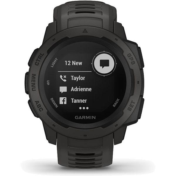 Monitor Cardíaco de Pulso com GPS Garmin Instinct Grafite  - TREINIT